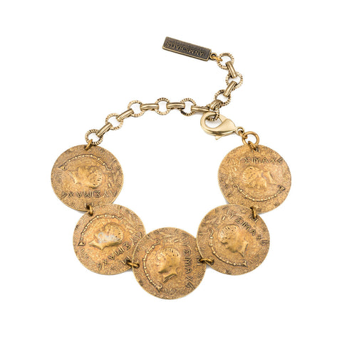 Jan Michaels Five Coin Bracelet