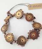 Jan Michaels Flowers Butterfly & Bee Gemstone Bracelet
