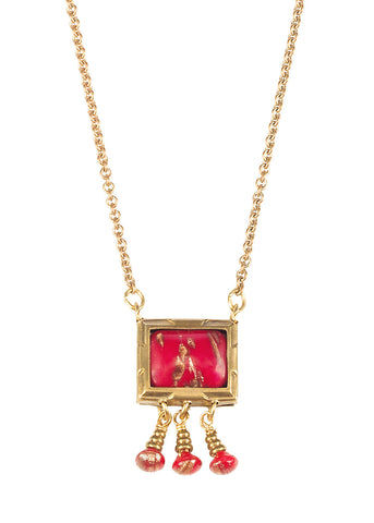 Jan Michaels Framed Art Necklace
