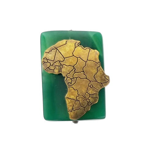 Jan Michaels Green Agate Africa Ring