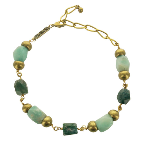 Jan Michaels Green Gemstone Waterway Necklace