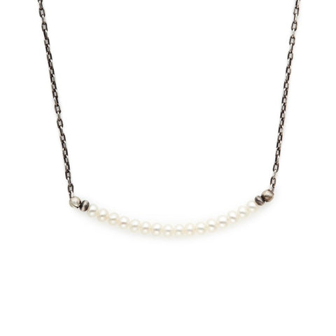J&I Petite White Fresh Water Pearl Necklace