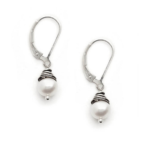 J & I Wrapped Pearl Earrings