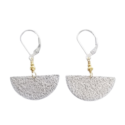 J & I Reflective Crescent Earrings