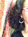 Jane Diaz Alhambra Hoops With Pyrite