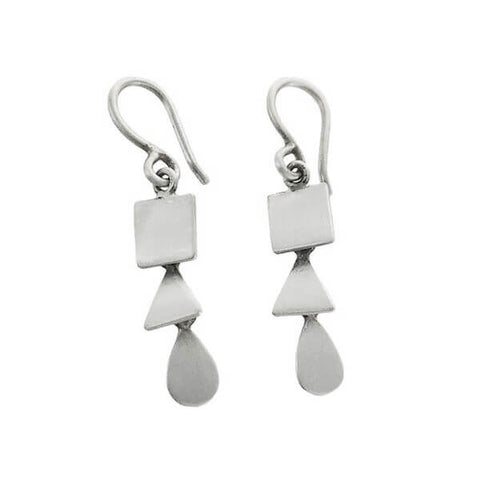 Jane Diaz Square Triangle Teardrop Earrings
