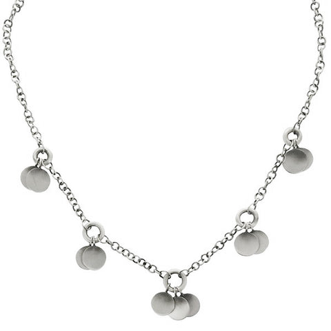 Jane Diaz Sterling Discs Necklace