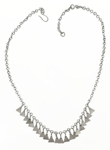 Jane Diaz Triangle Fringe Necklace Full View