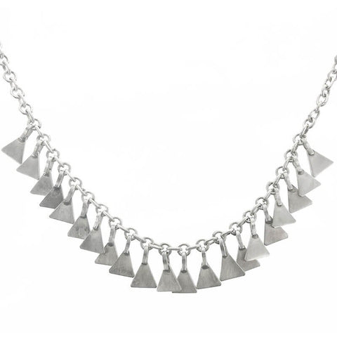 Jane Diaz Triangle Fringe Necklace