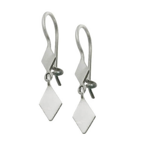 Jane Diaz Two Diamond Dangle Earrings