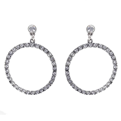 Potluck Paris Janet Crystal Hoop Earrings