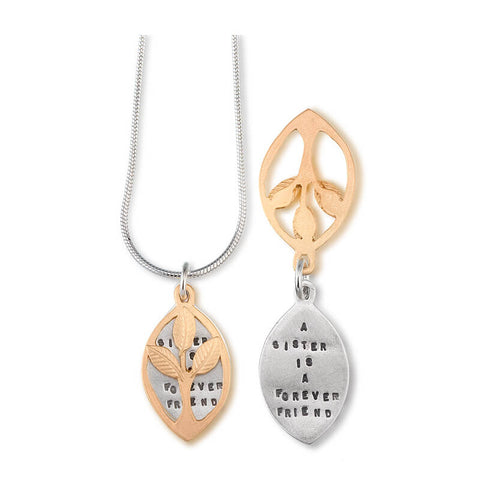 Kathy Bransfield A Sister Is A Forever Friend Necklace