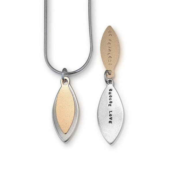"Kathy Bransfield ""Be Fearless, Choose Love"" Necklace"