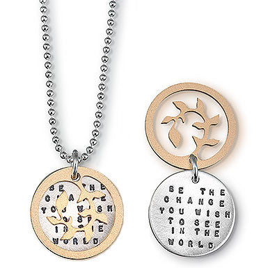 "Kathy Bransfield ""Be The Change"" Gandhi  Necklace"
