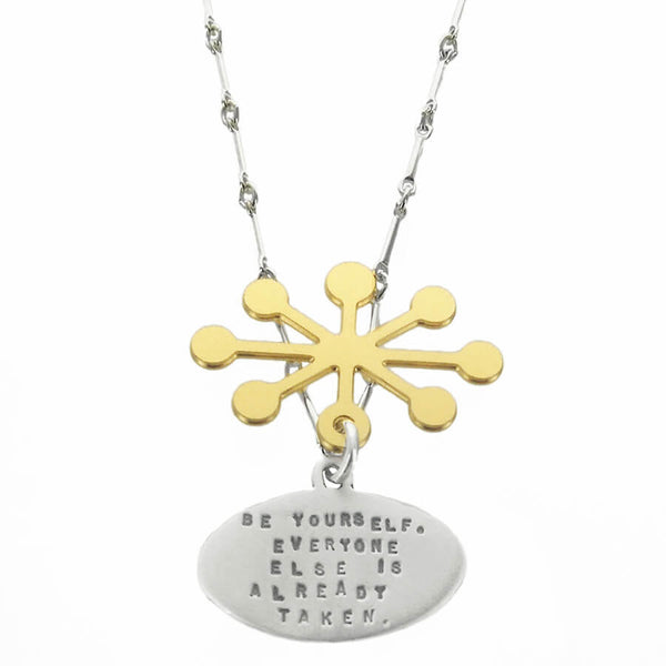 "Kathy Bransfield ""Be Yourself"" Oscar Wilde Quote Necklace"
