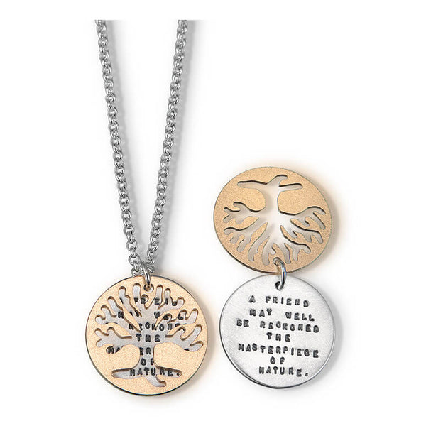 Kathy Bransfield Emerson Friend Quote Necklace