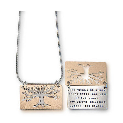 Kathy Bransfield Love Tree Quote Necklace