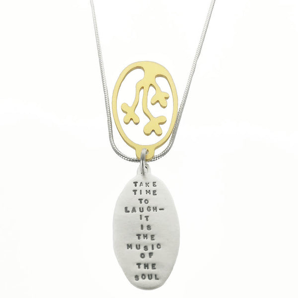 "Kathy Bransfield ""Take Time To Laugh-It Is The Music Of The Soul"" Necklace"