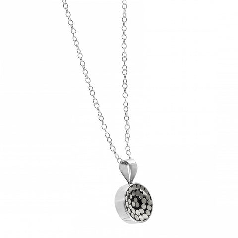 Kathy Kamei Be A Light Concave Reversable Disc Pendant Necklace