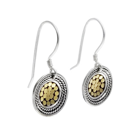 Kathy Kamei Be A Light French Wrap Disc Earrings Side View