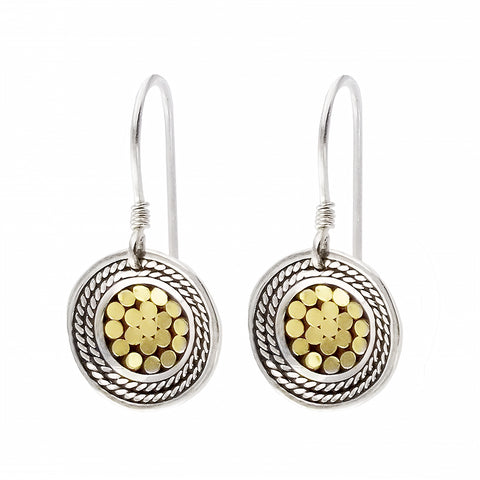 Kathy Kamei Be A Light French Wrap Disc Earrings