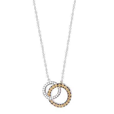 Kathy Kamei Be A Light Gold Silver Linked Hoop Necklace