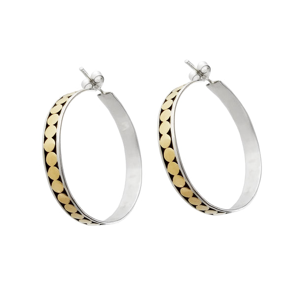 Kathy Kamei Big Dot Hoop Post Earrings