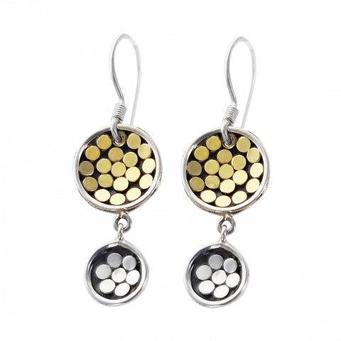 Kathy Kamei Double Disc Earrings