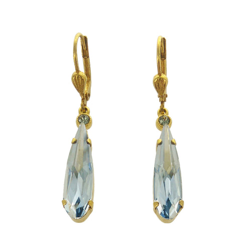 La Vie Blue Swarovski Crystal Earrings