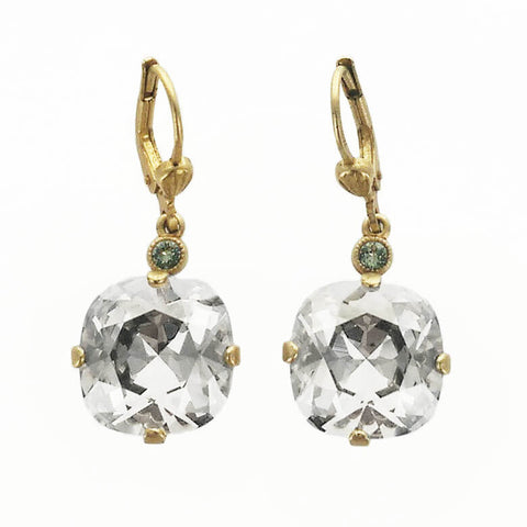 Faceted Clear Crystal Earrings