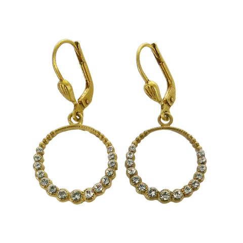 La Vie Parisienne Clear Swarovski Crystal Hoop Earrings