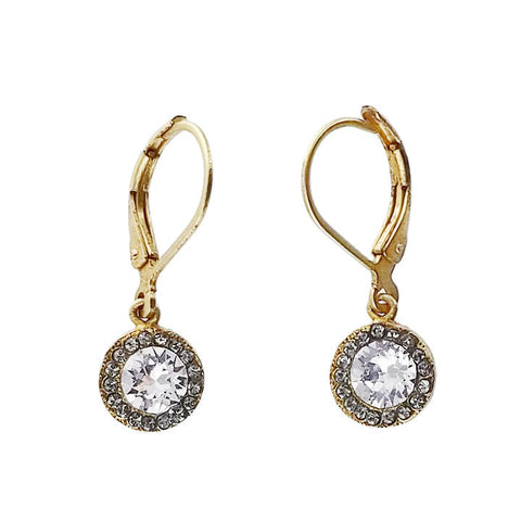 La Vie Parisienne Clear Swarovski Crystal Petite Drop Earrings