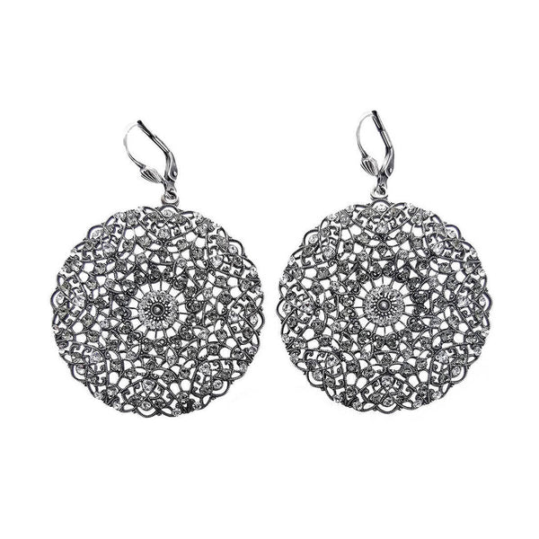 La Vie Parisienne Filigree Clear Crystal Earrings