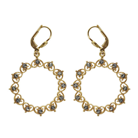La Vie Parisienne Filigree Wreath Earrings