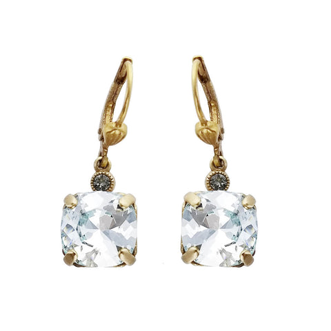 La Vie Parisienne Gold Clear Crystal Earrings