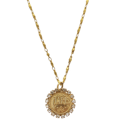 La Vie Parisienne Paris Coin Necklace
