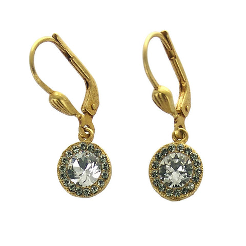 La Vie Parisienne Round Swarovski Crystal Earrings