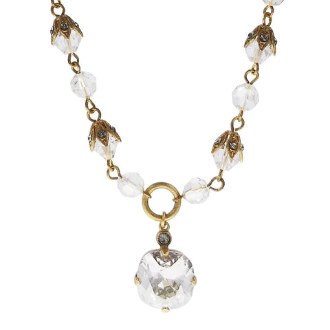 La Vie Parisienne Simple Elegance Swarovski Crystal Pendant Necklace Close Up