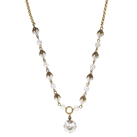 La Vie Parisienne Simple Elegance Swarovski Crystal Pendant Necklace