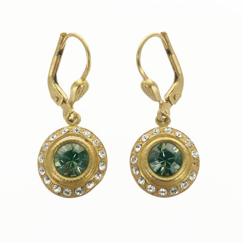 Petite Round Crystal Earrings