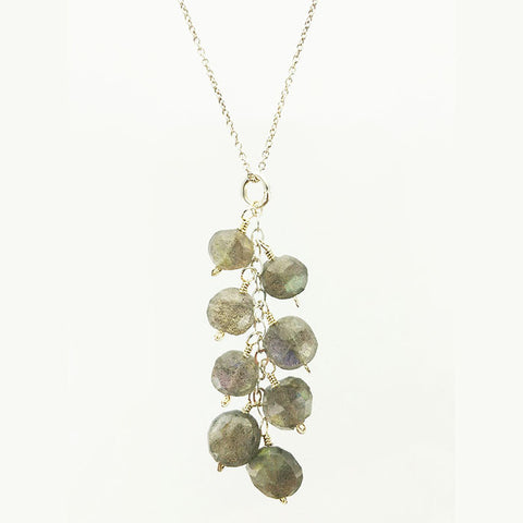 Labradorite Cluster Necklace