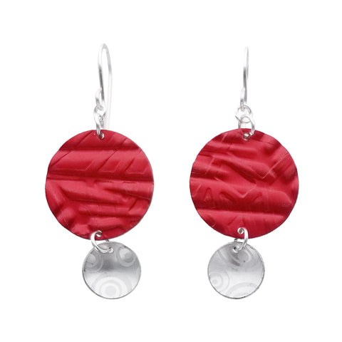 Lenel Designs Chloe Textured Circle Earrings
