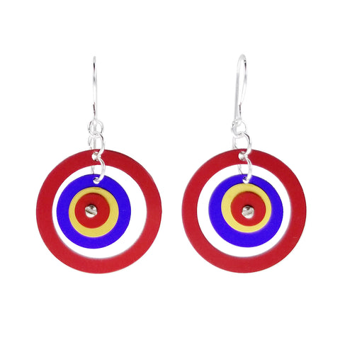 Lenel Designs Danielle Red Open Hoop Earrings