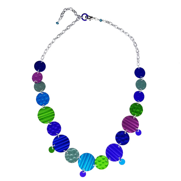 Lenel Designs Jacqui Textured Multi Disc Necklace