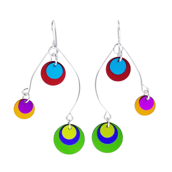 Lenel Designs Meredith Colorful Mobile Earrings