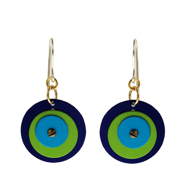 Lenel Designs Mia Three Layered Circle Earrings