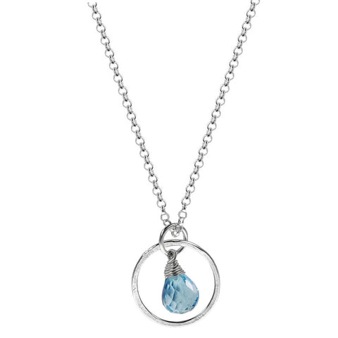 Live Well Blue Topaz December Birthstone Necklace