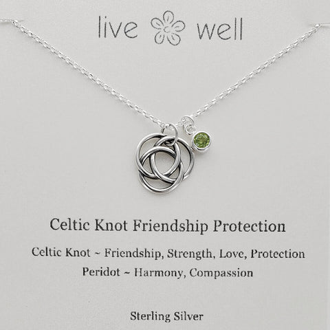 Live Well Celtic Knot Friendship Protection Necklace