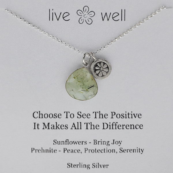 Live Well Bring Joy Inspirational Charm Necklace