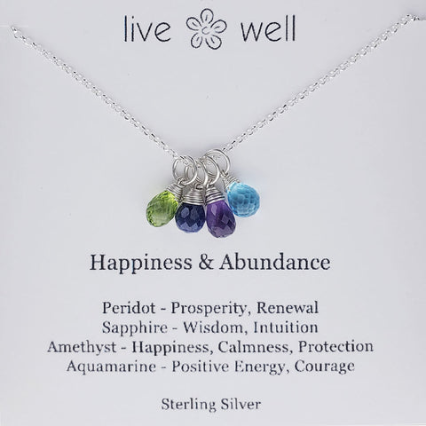 Live Well Happiness And Abundance Necklace